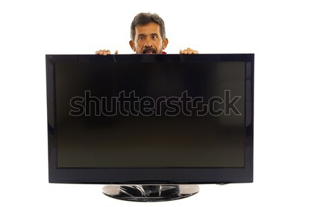 Stock photo: Man and TV