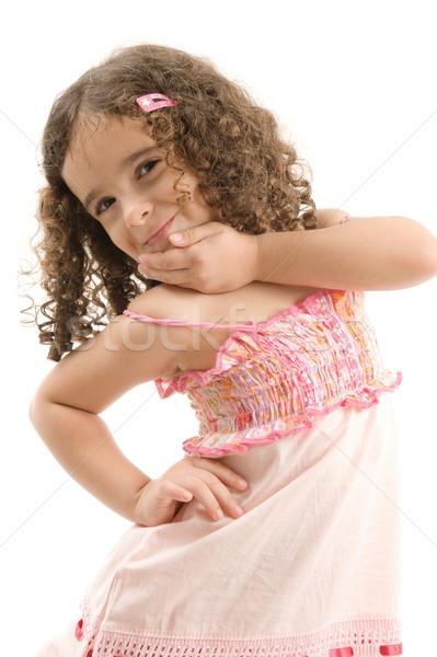 Nino cute jóvenes modelo feliz Foto stock © vtupinamba