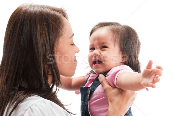 Llorando adulto atención Asia nino bebé Foto stock © vtupinamba