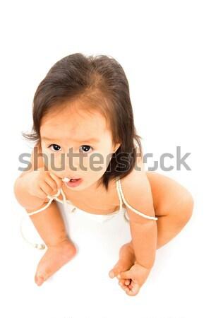 Bebé retrato cute Asia blanco nino Foto stock © vtupinamba