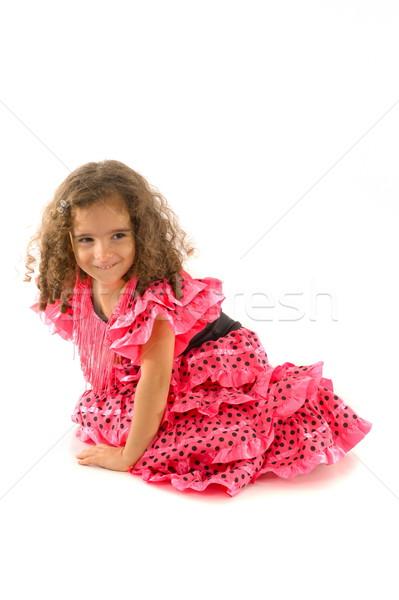 Dziecko cute dziewczyna typowy Hiszpania tancerz Zdjęcia stock © vtupinamba
