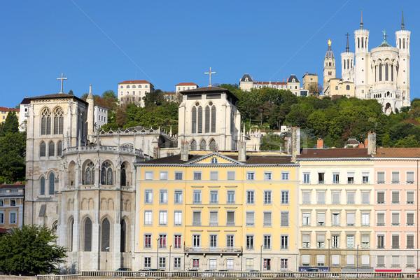 Lyon basílica catedral ver França igreja Foto stock © vwalakte