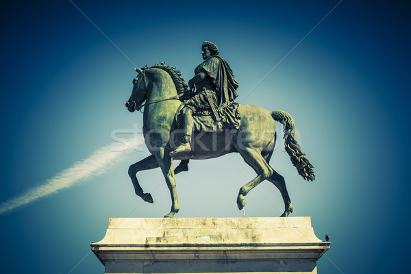 Equestrian statue of Louis XIV, special photographic processing. Stock photo © vwalakte