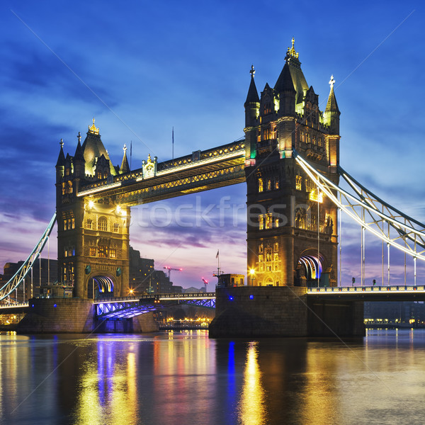 Tower Bridge in the evening Stock photo © vwalakte