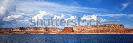 panoramic view on lake Powell Stock photo © vwalakte