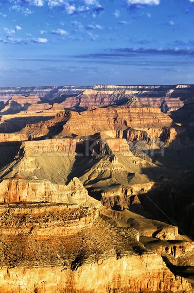 Függőleges kilátás híres Grand Canyon USA égbolt Stock fotó © vwalakte