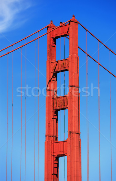 Famoso Golden Gate Bridge San Francisco água mar metal Foto stock © vwalakte