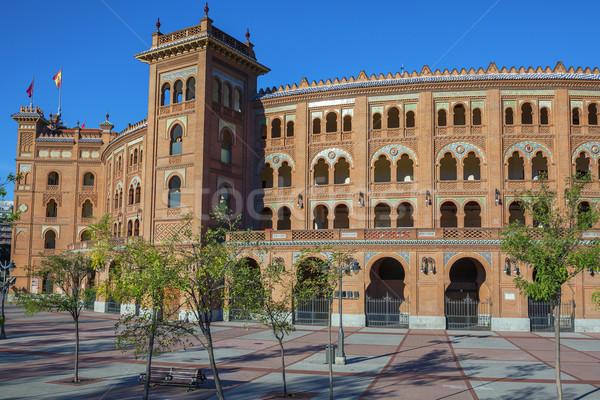 Stock fotó: Híres · Madrid · Spanyolország · város · gyűrű · bika