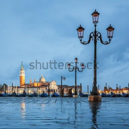 Venetië regenachtig dag kanaal water Stockfoto © vwalakte