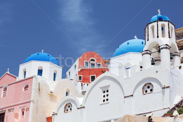 Санторини мнение небе дома здании город Сток-фото © vwalakte