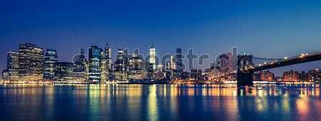View of New York City Manhattan midtown at dusk Stock photo © vwalakte