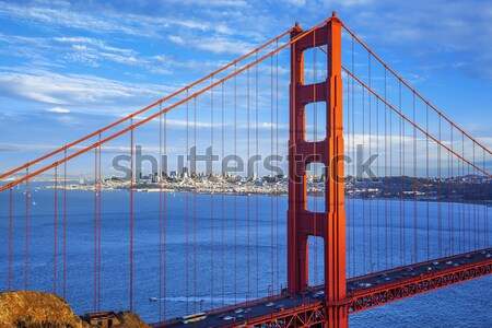 Vista famoso Golden Gate Bridge San Francisco California EUA Foto stock © vwalakte