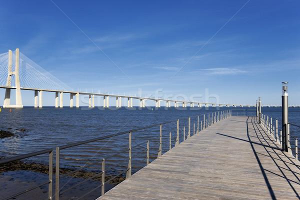 view of the big Vasco da Gama bridge Stock photo © vwalakte