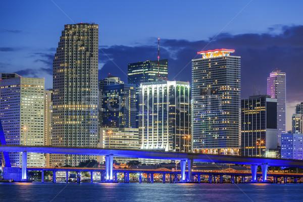 Miami by night Stock photo © vwalakte