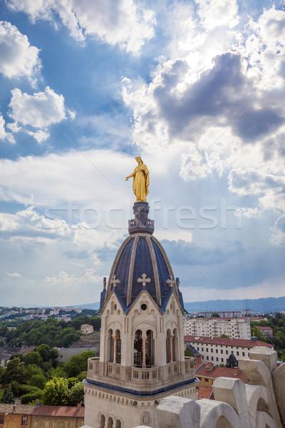 Arany szobor szűz arc anya istentisztelet Stock fotó © vwalakte