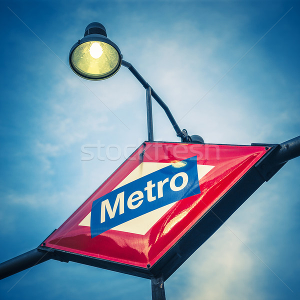Metro Station Sign Stock photo © vwalakte