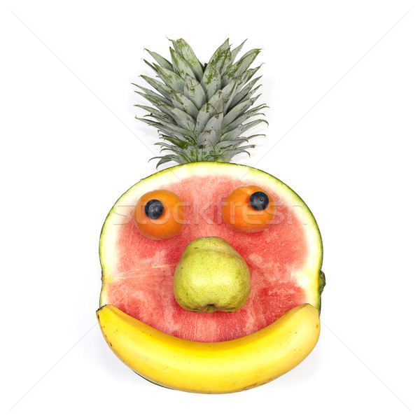 Funny fruit face Stock photo © vwalakte