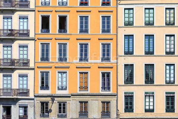 Famoso Lyon cidade França parede pedra Foto stock © vwalakte