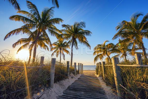 Famoso pasaje playa clave oeste sol Foto stock © vwalakte