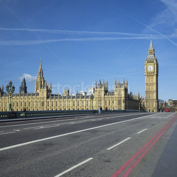 表示 ビッグベン 橋 ロンドン クロック 旅行 ストックフォト © vwalakte