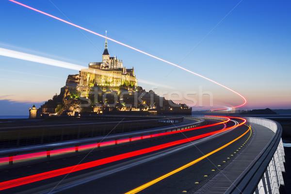 святой сумерки автобус свет Нормандия Франция Сток-фото © vwalakte