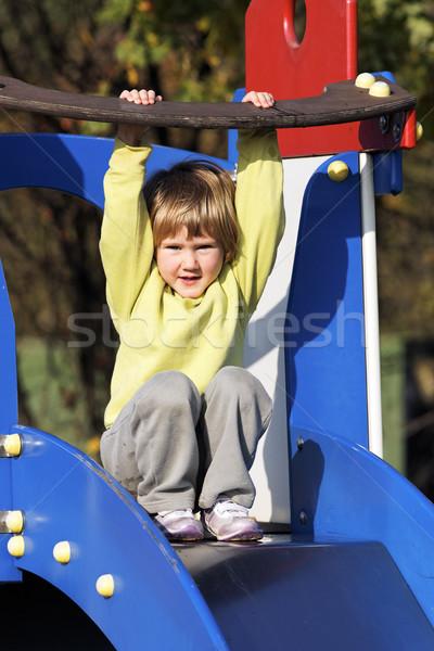 Zdjęcia stock: Dziecko · mały · gry · kolorowy · boisko · szczęśliwy