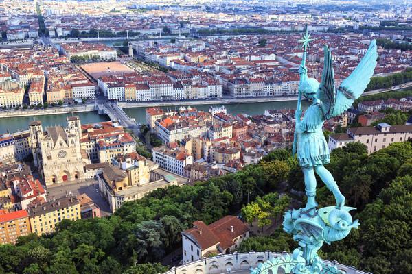 Híres kilátás Lyon felső hölgy templom Stock fotó © vwalakte