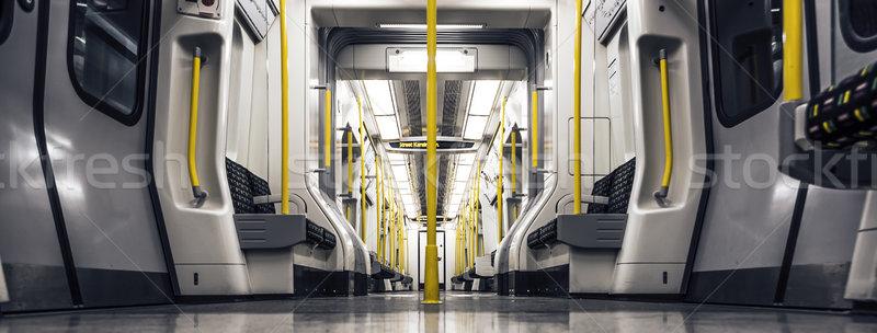 Panorâmico trem dentro vazio carro cidade Foto stock © vwalakte