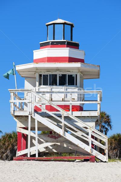 Słynny ratownik domu Miami plaży Florida Zdjęcia stock © vwalakte