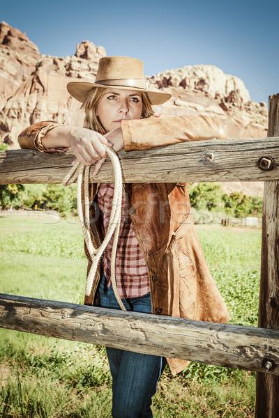 cowgirl spirit Stock photo © vwalakte