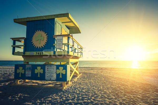 Miami South Beach sunrise, special photographic processing Stock photo © vwalakte