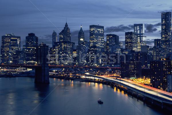 Skyline of downtown New York Stock photo © vwalakte