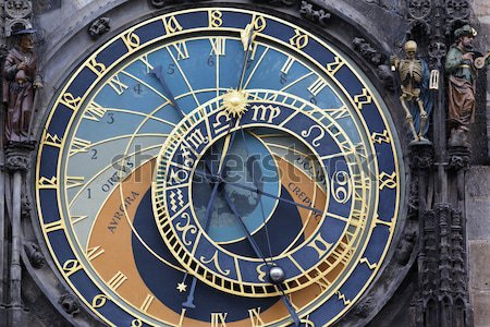 part of famous zodiacal clock Stock photo © vwalakte