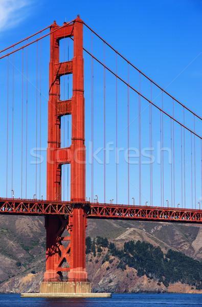 Golden Gate Bridge San Francisco água mar metal oceano Foto stock © vwalakte