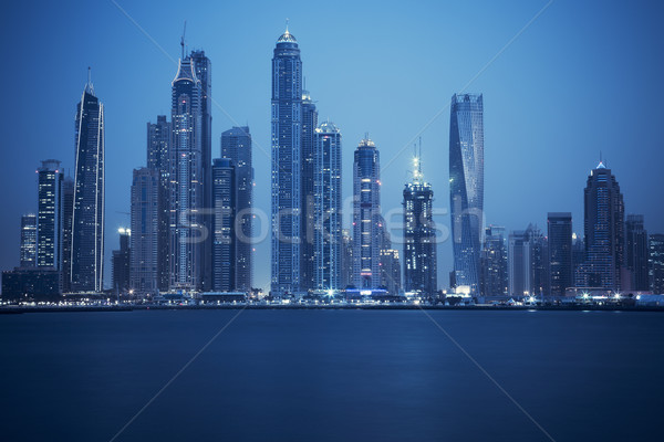 view of Dubai, special photographic processing Stock photo © vwalakte