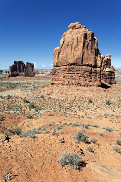 Słynny czerwony rock parku krajobraz kolor Zdjęcia stock © vwalakte