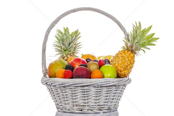 fruits in big basket Stock photo © vwalakte