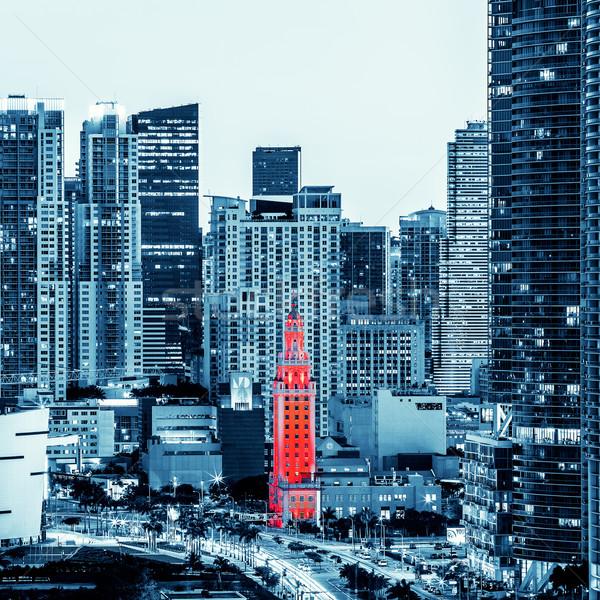 Ver Miami centro da cidade noite especial escritório Foto stock © vwalakte