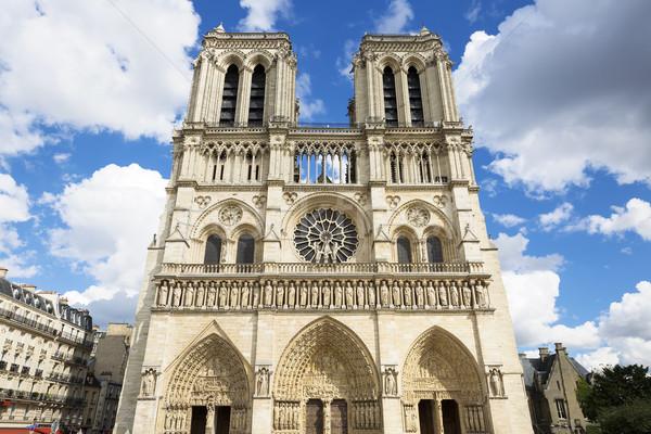 Notre Dame-katedrális Párizs Franciaország Európa világ istentisztelet Stock fotó © vwalakte