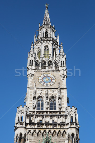 Crop of Medieval Town Hall buildin Stock photo © vwalakte