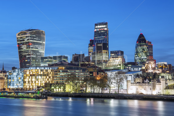 London Skyline At Night Stock photo © vwalakte