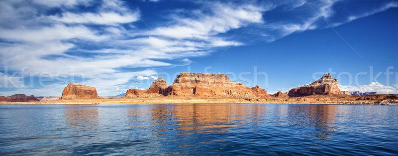 Panorámica vista famoso lago página EUA Foto stock © vwalakte