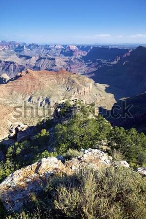 Horizontal ver famoso Grand Canyon EUA céu Foto stock © vwalakte