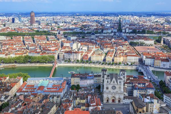 Ver Lyon famoso igreja viajar Foto stock © vwalakte