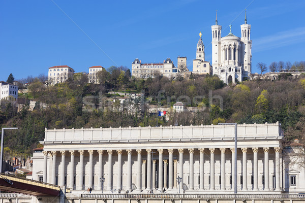 view of Lyon with cathedrale and courthouse Stock photo © vwalakte