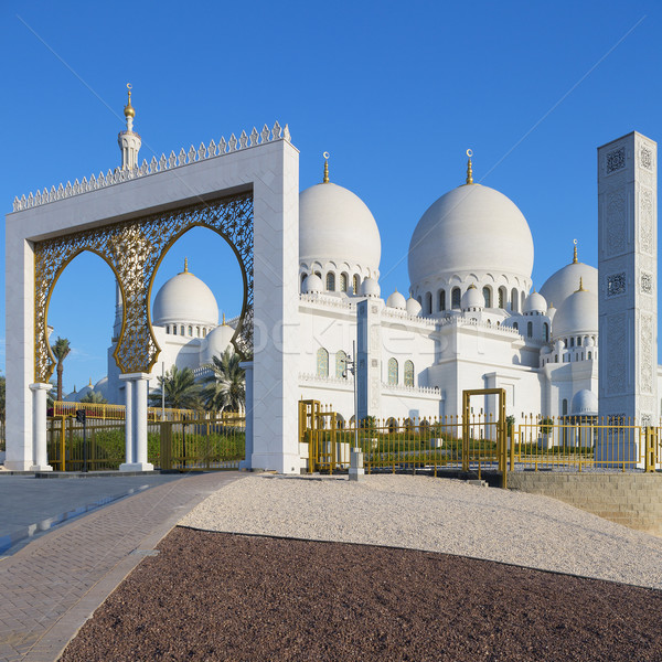 Entry of Sheikh Zayed Grand Mosque Stock photo © vwalakte