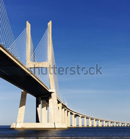 part of Vasco da Gama bridge Stock photo © vwalakte