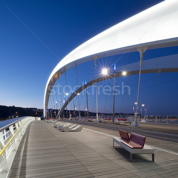On the bridge by night Stock photo © vwalakte