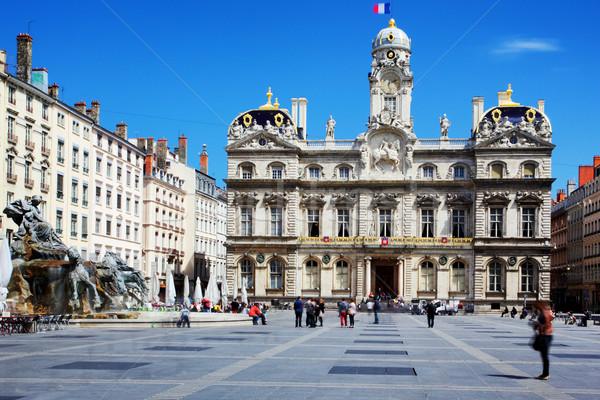 famous Terreaux square Stock photo © vwalakte