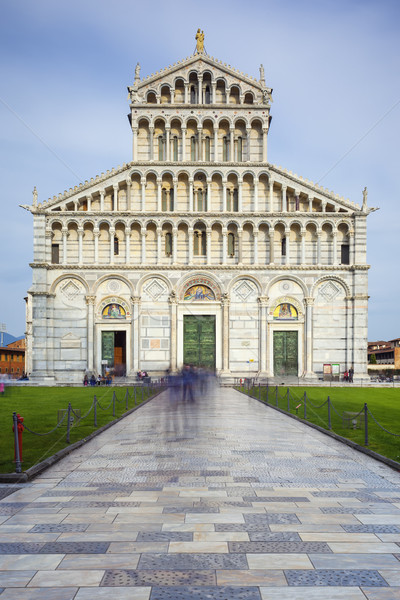 Famous Piazza Miracoli in Pisa Stock photo © vwalakte